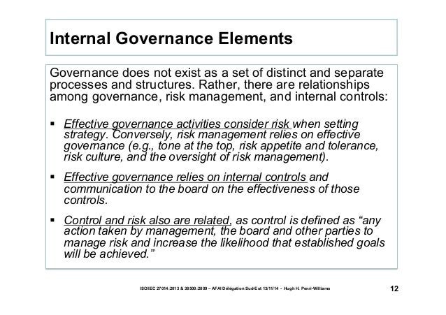 Governance does not exist as a set of distinct and separate  processes and structures. Rather, there are relationships  am...
