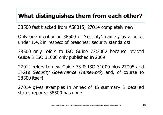 What distinguishes them from each other?  38500 fast tracked from AS8015; 27014 completely new!  Only one mention in 38500...