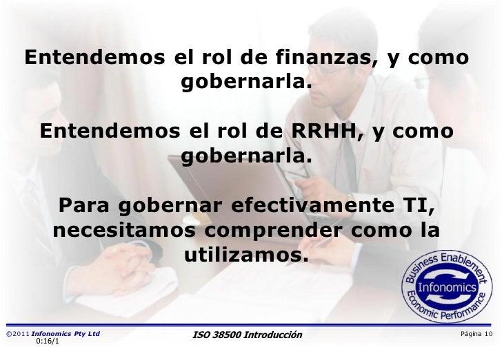 Entendemos el rol de finanzas, y como               gobernarla.        Entendemos el rol de RRHH, y como                  ...