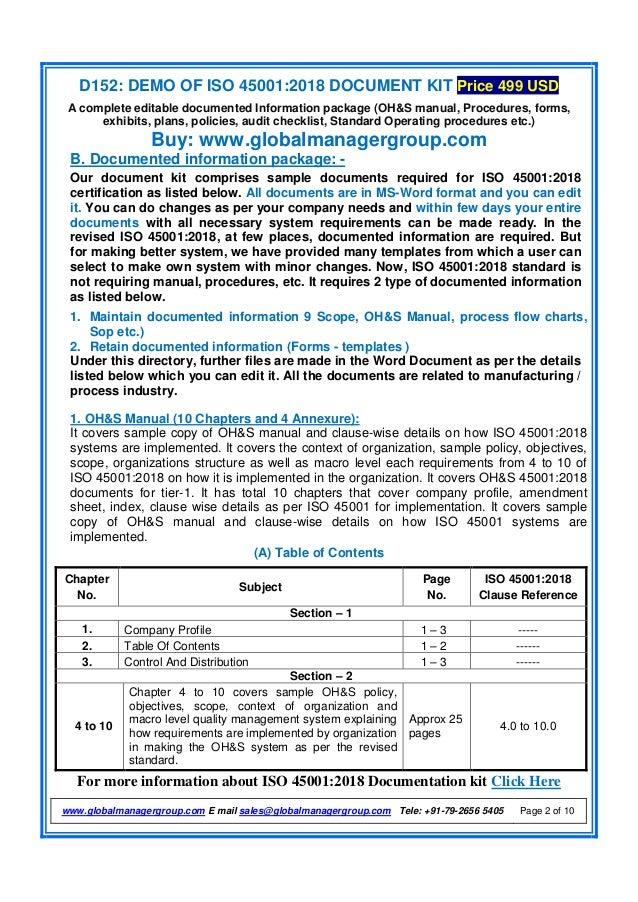 Iso45001 2018documentationrequirement-180315092214