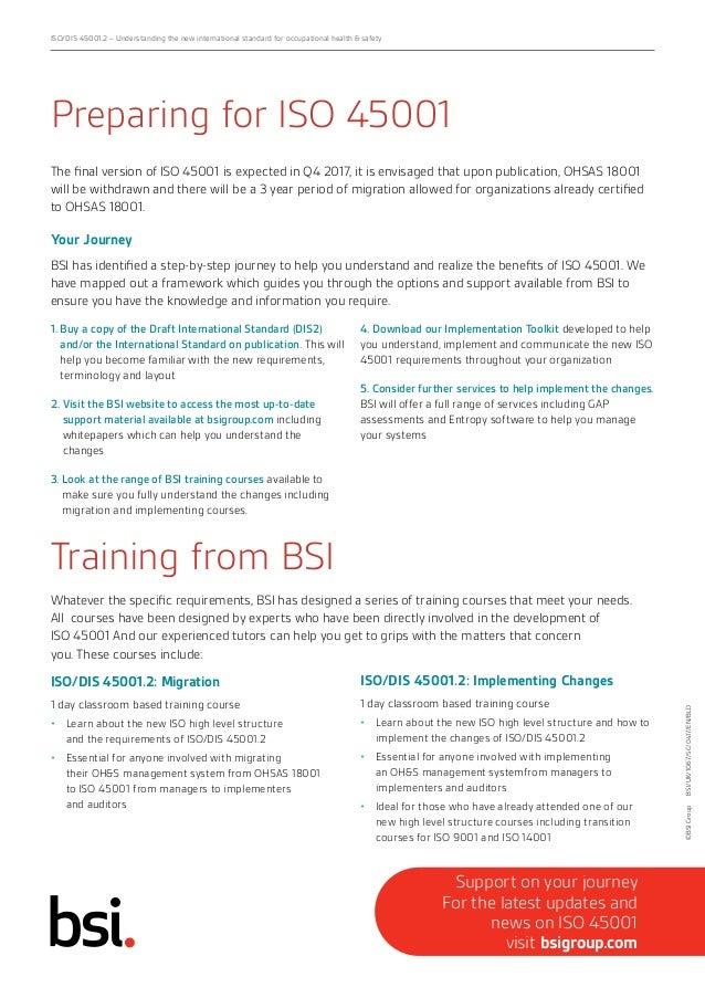 bsi iso 45001 migration training