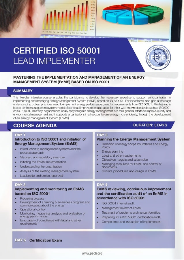 CERTIFIED ISO 50001 LEAD IMPLEMENTER MASTERING THE IMPLEMENTATION AND MANAGEMENT OF AN ENERGY MANAGEMENT SYSTEM (EnMS) BAS...