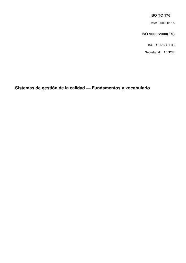 ISO TC 176                                                             Date: 2000-12-15                                   ...