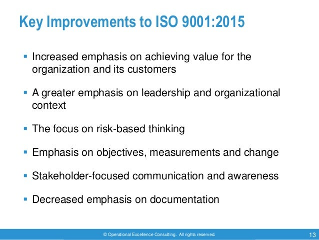 iso 9001 2015  qms  awareness training by operational