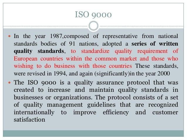 ISO 9000 STANDARDS FOR HOSPITALS Slide 3
