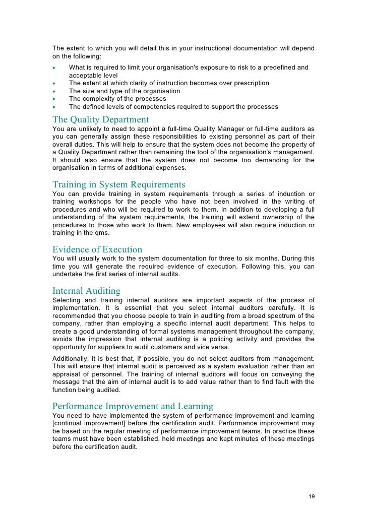 ISO 9001: 2000 QUALITY SYSTEMS IN THE SMALL OR MEDIUM SIZED ENTERPRI…