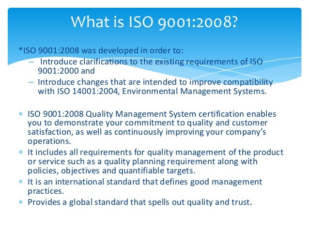 Iso 9001 2008-quality management