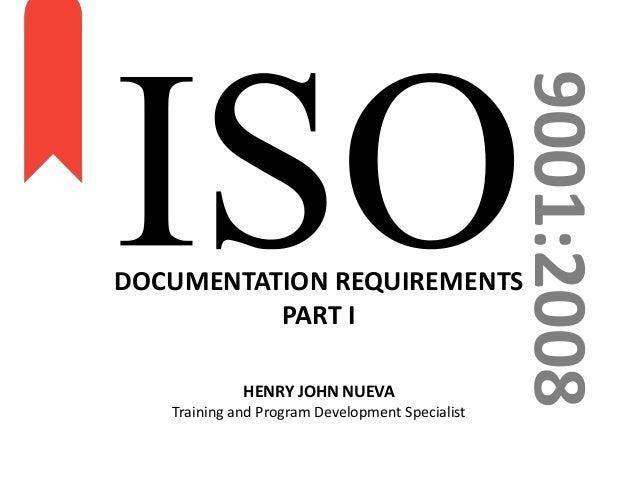 ISO 9001 2008 Part I