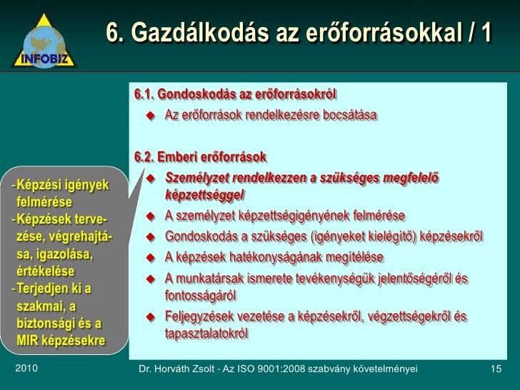 6. Gazdálkodás az erőforrásokkal / 1                       6.1. Gondoskodás az erőforrásokról                         Az ...
