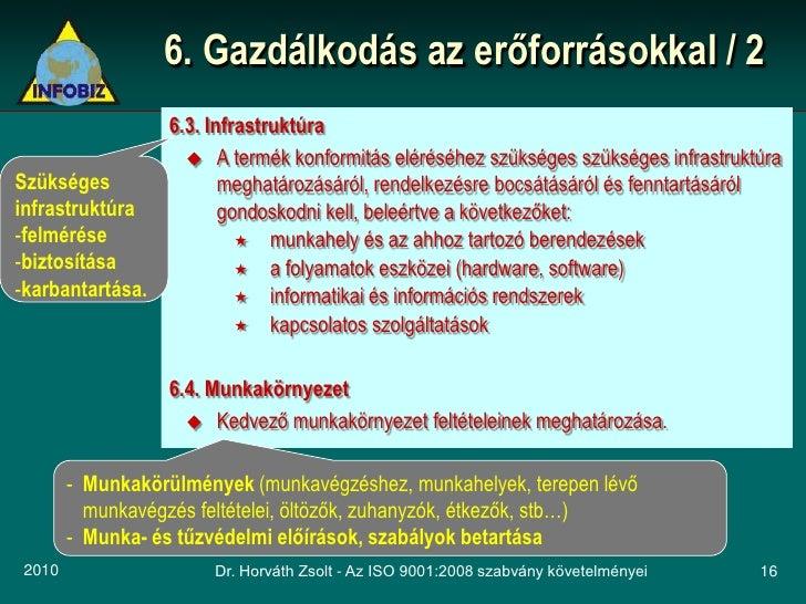 6. Gazdálkodás az erőforrásokkal / 2                 6.3. Infrastruktúra                    A termék konformitás eléréséh...