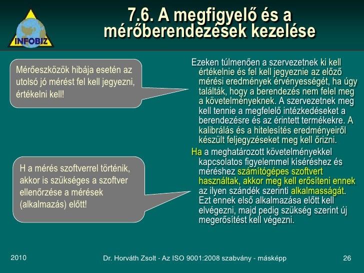 7.6. A megfigyelő és a                           mérőberendezések kezelése                                                ...