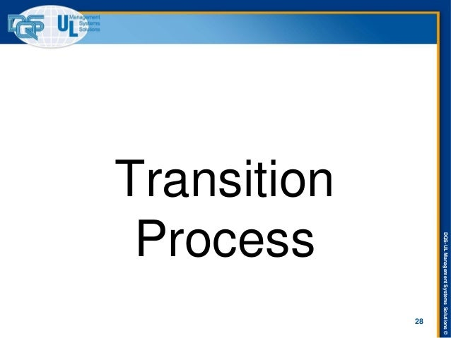 DQS-UL Management Systems Solutions ©  Transition Process  28