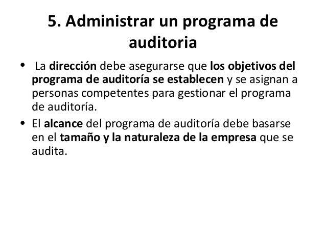 5. Administrar un programa de auditoria NUEVO • 5.3 Determinación y evaluación de riesgos y oportunidades del programa de ...