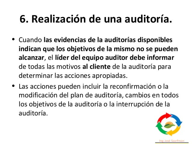 6. Realización de una auditoría. PLAN DO CHECK ACT