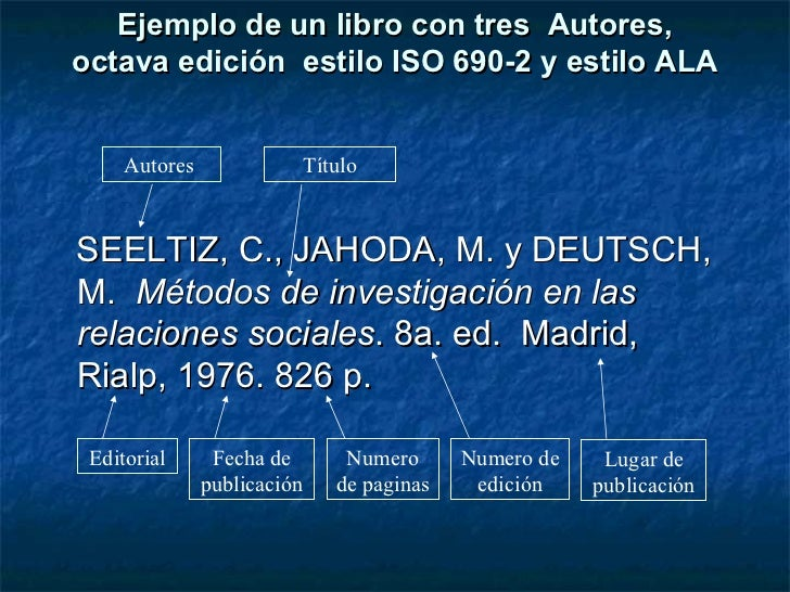 Cómo registrar bibliografía: estilo ISO, ALA, IFLA