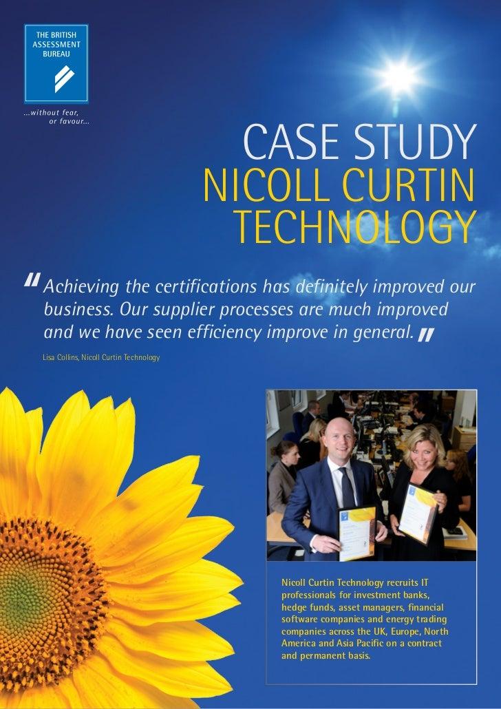 CASE STUDY                                         NICOLL CURTIN                                          TECHNOLOGYAchiev...