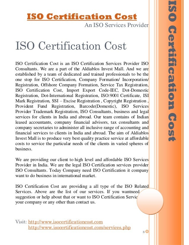 Iso Certification Service Provider