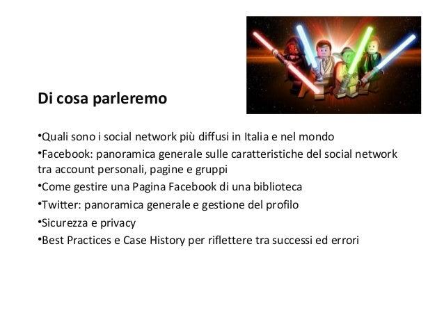 I social network in biblioteca Slide 2