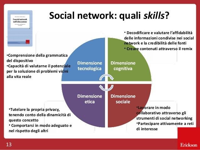 Social network: quali skills? • Decodificare e valutare l'affidabilità delle informazioni condivise nei social network e l...