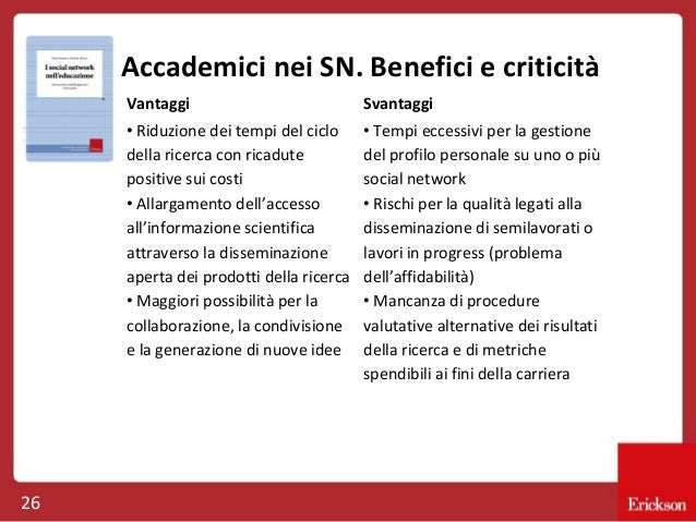 Accademici nei SN. Benefici e criticità Vantaggi • Riduzione dei tempi del ciclo della ricerca con ricadute positive sui c...