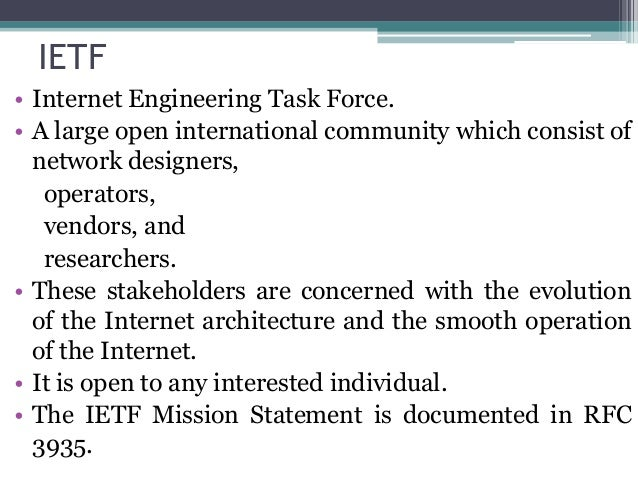 internet engineering task force 3 days ago  last friday, the internet engineering task force released the final version of tls  13 this is a major update to tls 12, the security protocol.