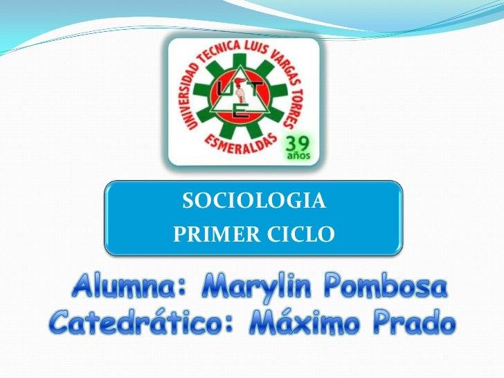 SOCIOLOGIAPRIMER CICLO