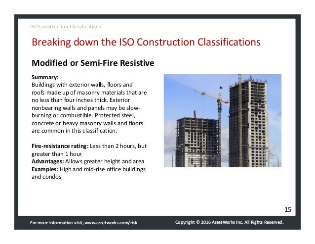 Assetworks Iso Construction Classifications Quick Guide