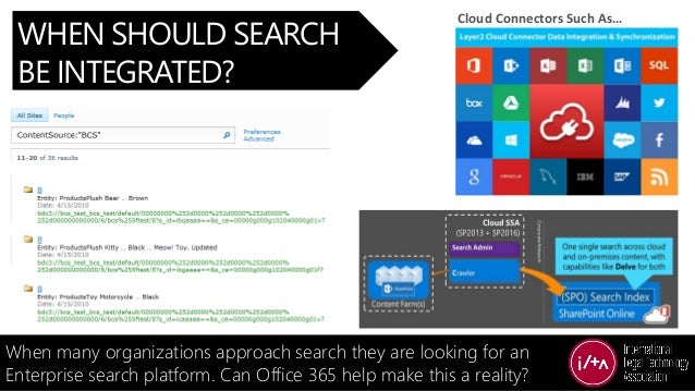 WHEN SHOULD SEARCH BE INTEGRATED? When many organizations approach search they are looking for an Enterprise search platfo...