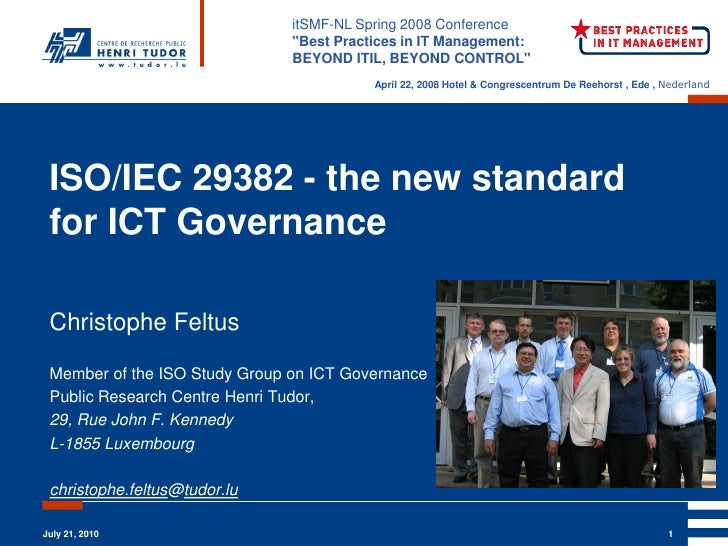 Iso iec 29382   the new standard for ict governance christophe feltus