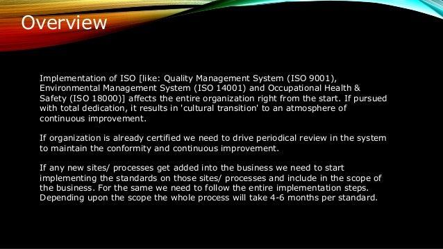 Iso Implementation Roadmap By Motaharul Islam