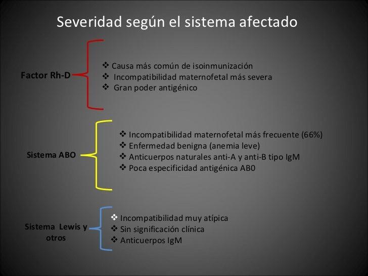 <ul><li>Severidad según el sistema afectado </li></ul>Factor Rh-D <ul><li>Causa más común de isoinmunización </li></ul><ul...