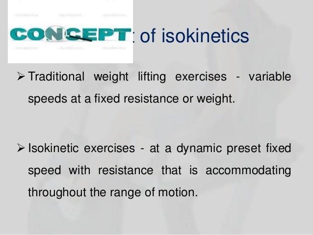 Isokenetic testing in sports