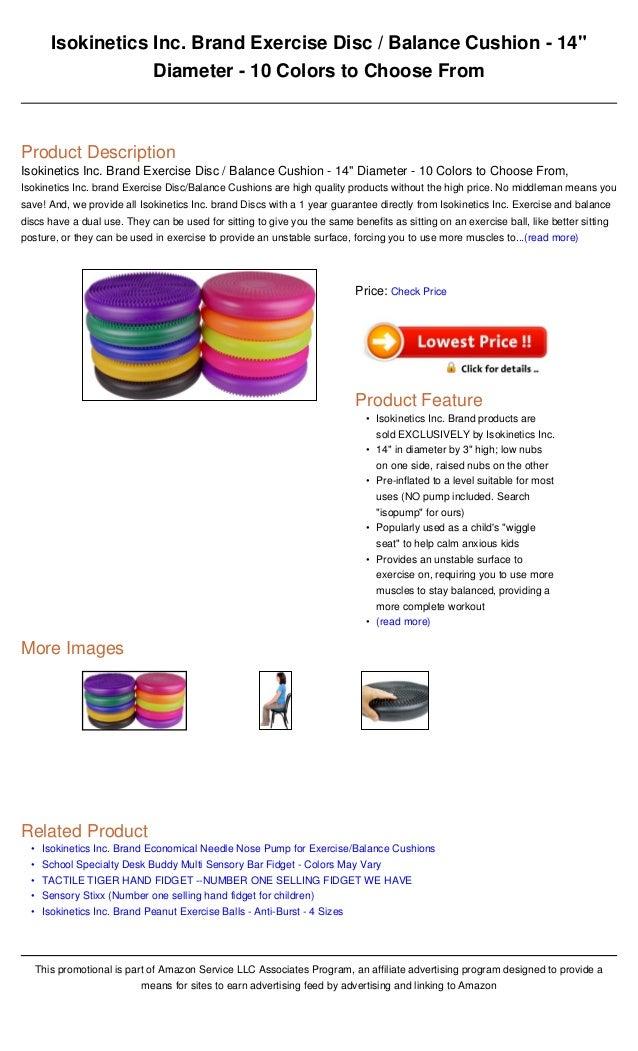 Isokinetics Inc Brand Exercise Disc Balance Cushion 14 Diameter