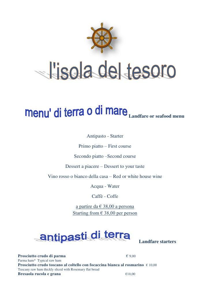 Landfare or seafood menu                                              Antipasto - Starter                                 ...