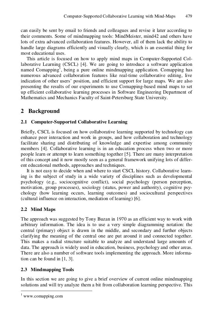 Computer Supported Collaborative Learning Essay