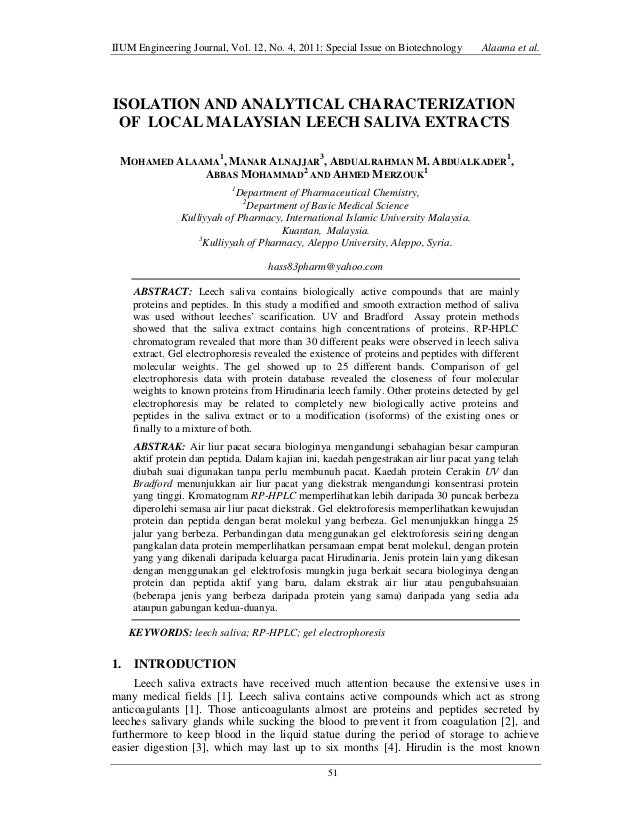 IIUM Engineering Journal, Vol. 12, No. 4, 2011: Special Issue on Biotechnology  Alaama et al.  ISOLATION AND ANALYTICAL CH...