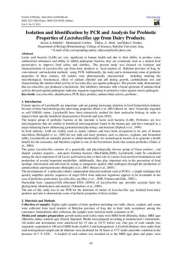Journal of Biology, Agriculture and Healthcare ISSN 2224-3208 (Paper) ISSN 2225-093X (Online) Vol.3, No.12, 2013  www.iist...