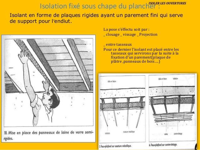 Isolation et etancheite - Fixation laine de verre ...