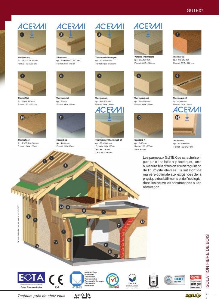 isolation fibre de bois gutex ageka. Black Bedroom Furniture Sets. Home Design Ideas