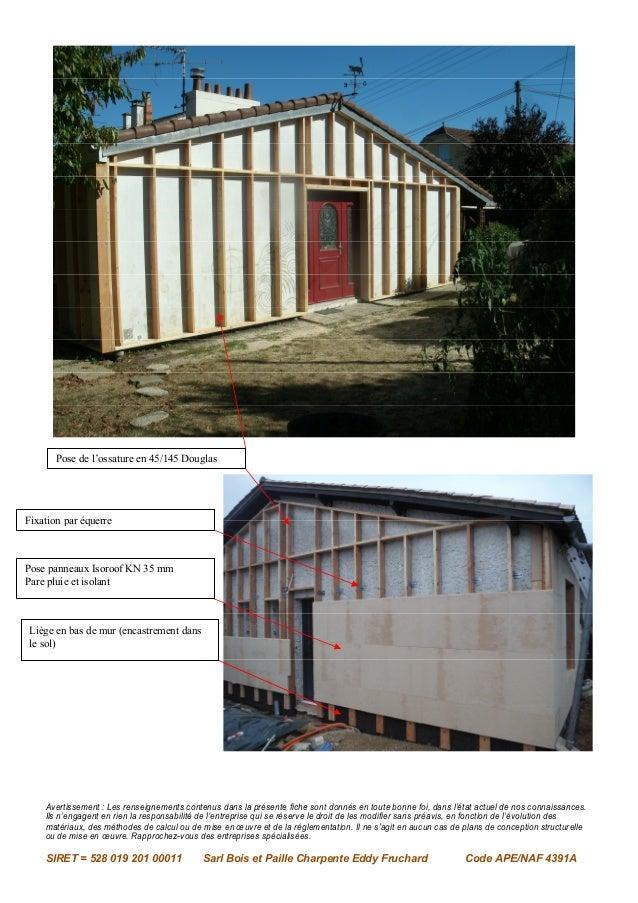 Isolation par l'extérieure par bois et paille charpente eddy fruchard Slide 2