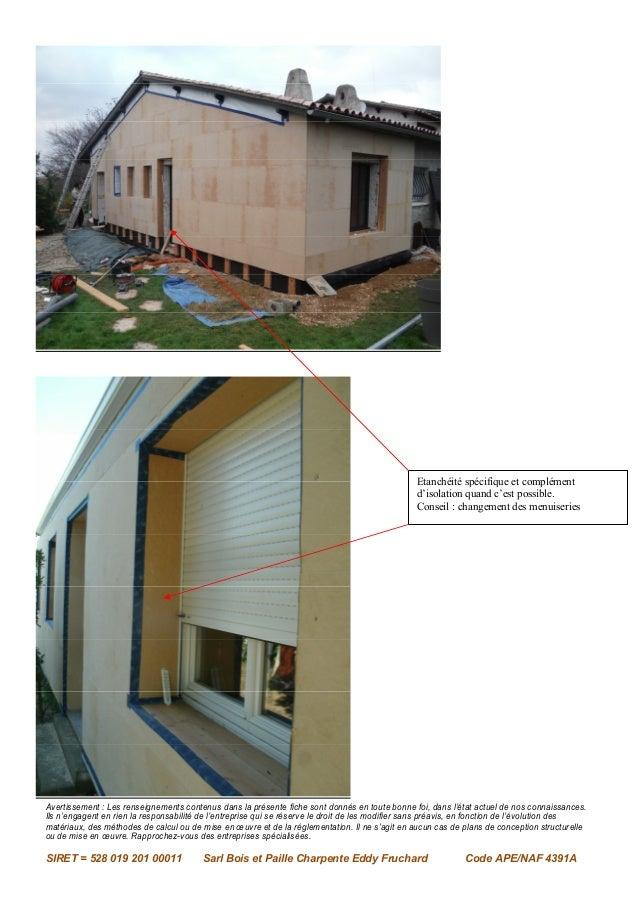 Isolation par l'extérieure par bois et paille charpente eddy fruchard Slide 3
