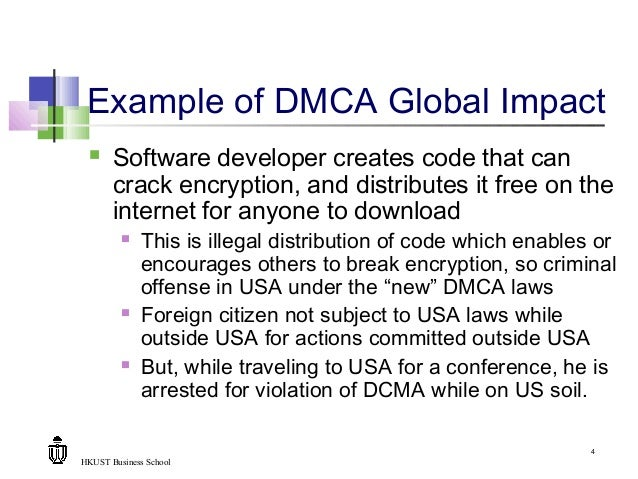 Dmca: DMCA & US Laws Impact On Global Commerce
