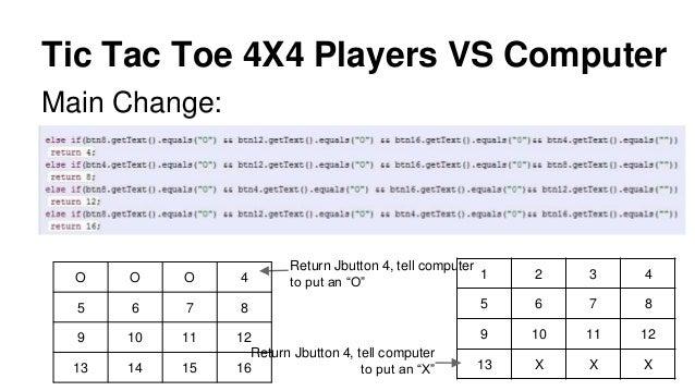 Tic Tac Toe Java Development