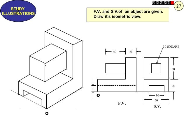 how to draw isometric projection