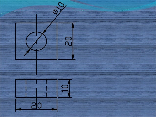 Figure shows Front Viewand Top View of a machineparts. Sketch its isometricview & dimension it.