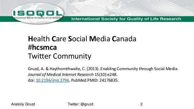 Enabling Community through Social Media Slide 2