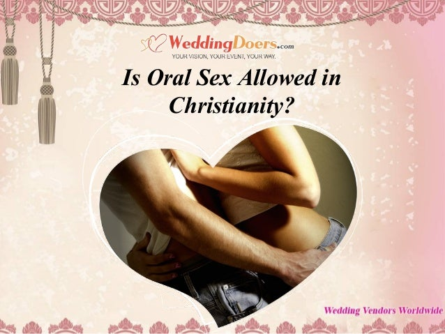 Oral sex within a christian marriage