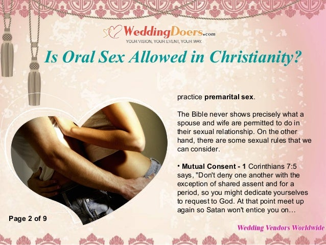 What does the bible say about oral sex