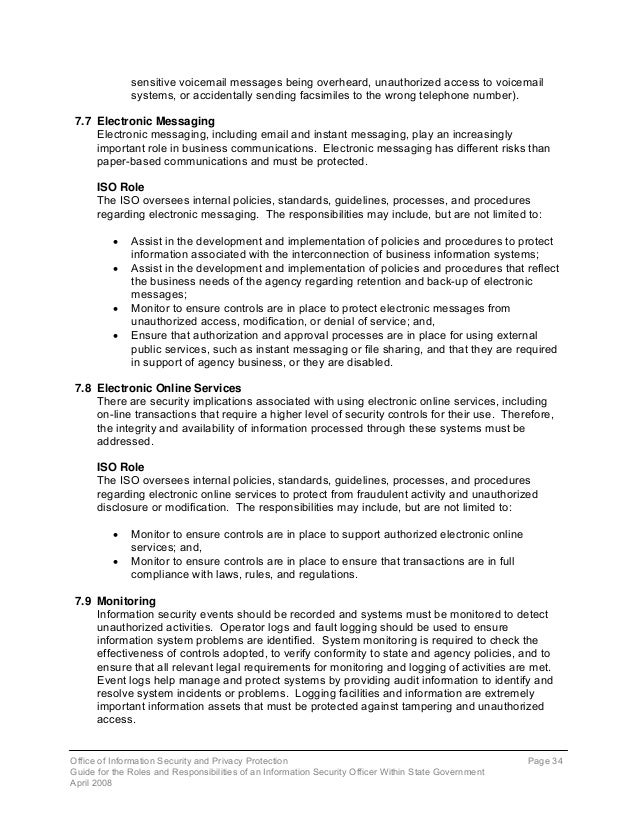 Roles of Information Security Officers in State Government