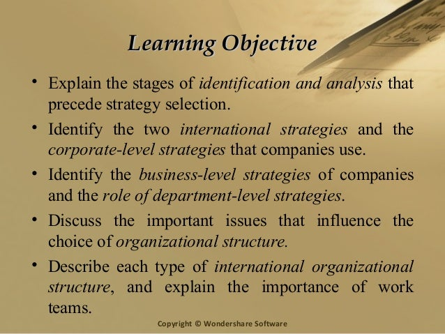 Strategy and Structure of an Organization
